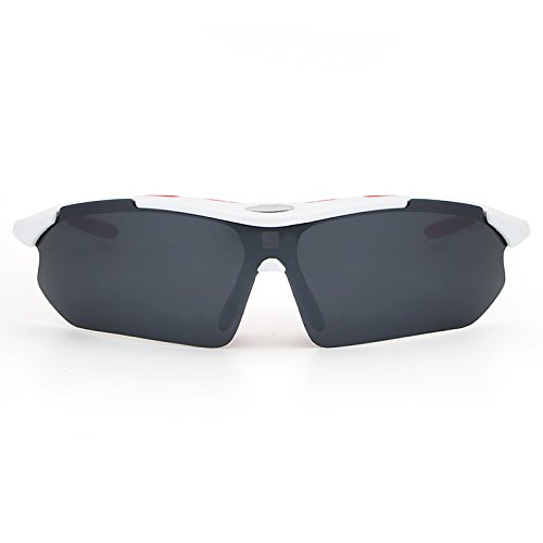 sol clásicas UV400 del Aviador polarizadas para de White conducir protección metal hombres Pesca Material de voladoras de los Ciclismo Ruanyi Gafas Vintage BXqwfpEnXA