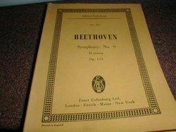 Ludwig Van Beethoven, Symphony No. 9, D minor,Op.125, Miniature Orchestra Score