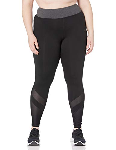 JUST MY SIZE Women's Plus Size Active Mesh Pieced Run