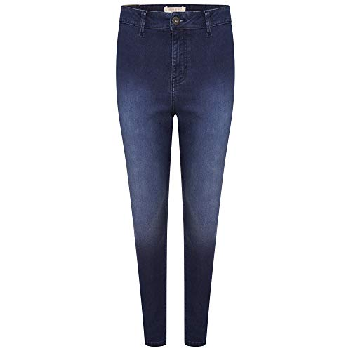 M17 Women Ladies High Waisted Denim Jeans Skinny Fit Casual Cotton Trousers Pants with Pockets