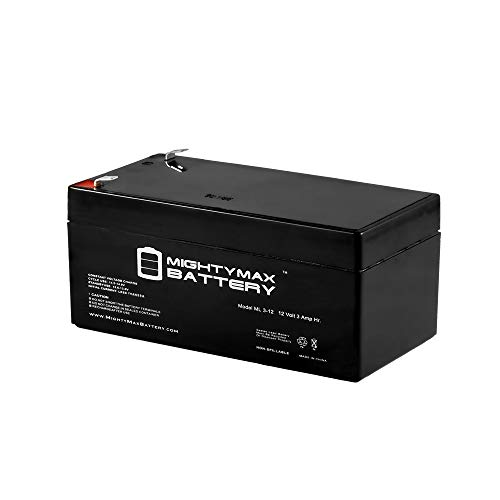Mighty Max Battery ML3-12 - 12V 3AH Replacement Battery for