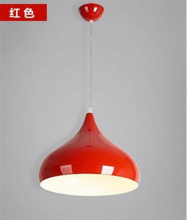 WYMBS Creative furniture decoration pendant light Aluminum single color Pendant (320mm) , red
