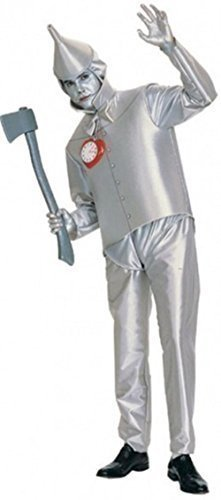 [Official Licensed Mens Adult Tinman Tin Man Wizard of Oz TV Film Robot Halloween Fancy Dress Costume Outfit by Fancy] (Official Halloween Costumes)