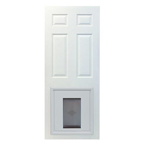 Merveilleux PetSafe Panel Pet Door, Paintable White, Large