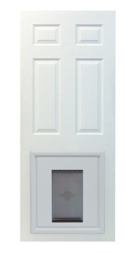 PetSafe Panel Pet Door, Paintable White, Large - Fits into Paneled Doors