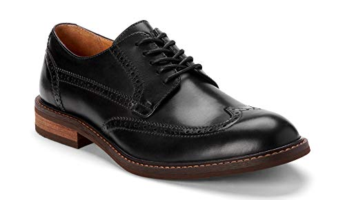 Vionic Men's Bowery Bruno Oxford Shoes - Leather Shoes for Men with Concealed Orthotic Support - Black Leather 9M