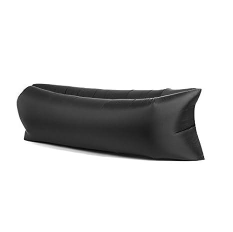 Tumbona inflable, sofá, cama de aire de compresión, saco de dormir, ideal para uso en interiores/al aire libre, senderismo, camping, playa, parque, ...