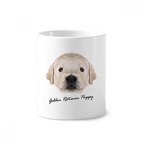Trained Golden Retriever Puppy Dog Animal Toothbrush Pen Holder Mug White Ceramic Cup ()