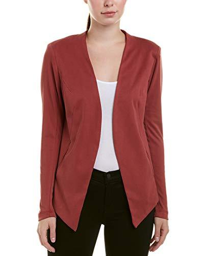 BCBGeneration Women's Tuxedo Blazer with Welts, Ruby Wine - Blazer Ruby Red