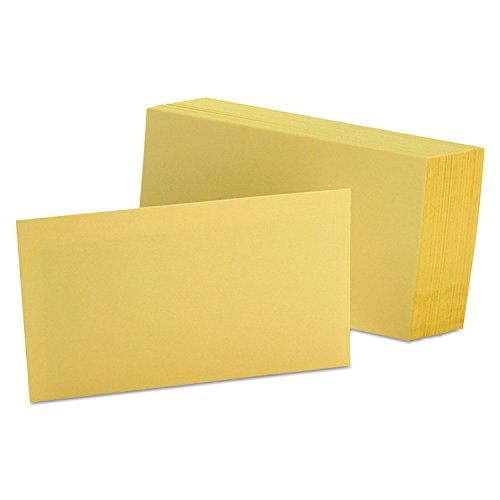 Oxford Colored Index Cards - Oxford(R) Color Index Cards, Unruled, 3in. x 5in., Canary, Pack Of 100
