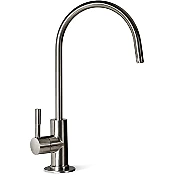 ISpring GA1 BN 6 5 x11  14oz Solid Brass Heavy Duty Water Filter Designer  Faucet   EU Style High Spout  Brushed NickelAquaboon Water Filter Purifier Faucet European Style Brushed  . Water Filter Faucet Stainless Steel. Home Design Ideas