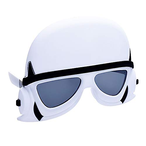 Sun-Staches Star Wars Storm Trooper Officially Licensed, White,