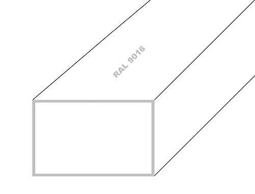 Aluminium Rechteckrohr Alu Profilrohr Vierkantrohr Anthrazit RAL 7016 30x20x2mm 2000mm Anthrazit RAL 7016