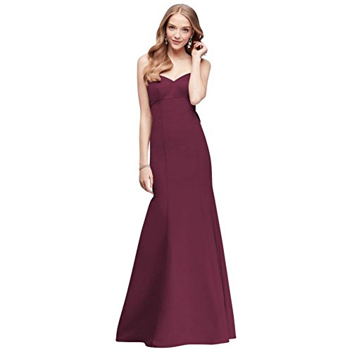 Bow Dress Strapless Bridal David's Wine Faille Bridesmaid Mermaid OC290033 Style gY4wSq