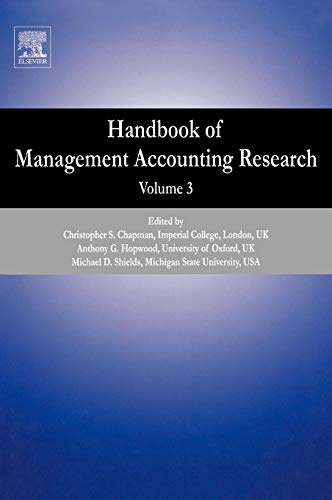 Handbook of Management Accounting Research, Vol. 3