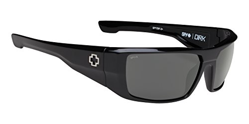 Spy Optic Dirk Wrap Sunglasses, 64 mm (Black/Happy Gray/Green)
