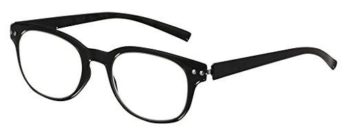 Optical Reading Glasses Ultra FLEXIBLE BENDZ Rounded Design Women Men Unisex Eyeglasses + Soft Pouch +1.75 - Rounded Eyeglasses