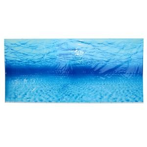 Pinzhi Blue Sea Ocean Fish Tank Acuario de fondo Seascape Póster Decoración de pared