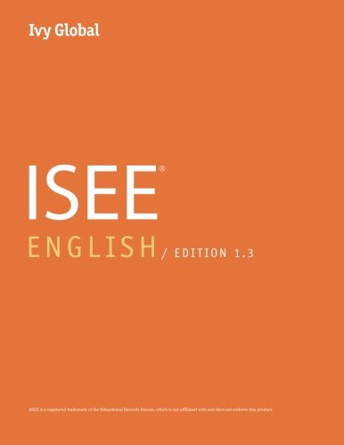 Ivy Global ISEE English 2016, Edition 1.3 (Prep Book)