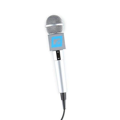 mtv-the-singing-machine-microphone-karaoke-microphone-smm-200-classic-silver
