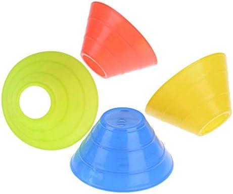 10 unidades de conos de f/útbol para entrenamiento de f/útbol entretenimiento deportes