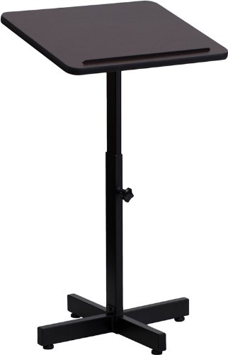 Flash Furniture Adjustable Height Metal Lectern in Mahogany Stilnovo XU-LECTERN-ADJ-GG