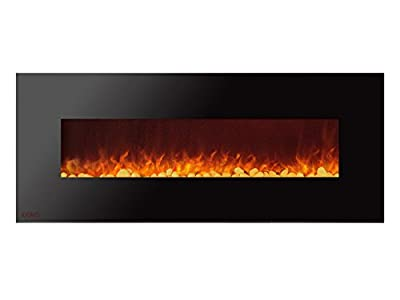 Ignis Royal 60 inch Wall/Recessed Mount Electric Fireplace with Pebbles c SA us Certified