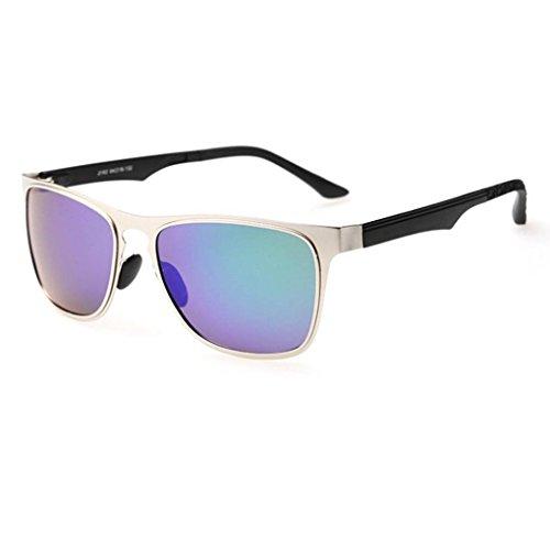 protection Lunettes mode unisexe polarisées 1 inoxydable Coolsir en soleil lunettes acier verres Mengonee UV400 cadre de de de qICEng