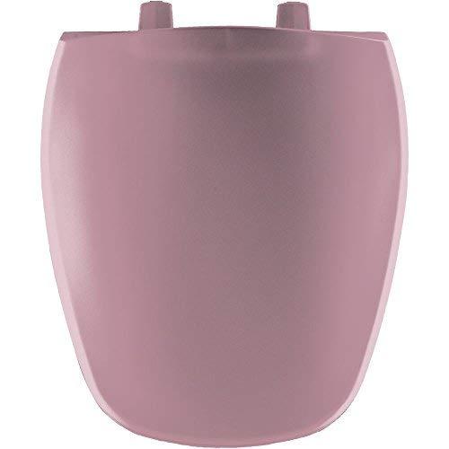 (Bemis 1240200303 1240200 303 Plastic Round Toilet Seat, Dusty Rose)