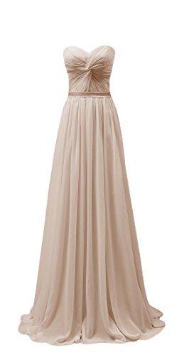 Bridal_Mall - Robe - Trapèze - Sans Manche - Femme -  beige - 46