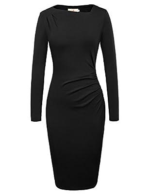 Grace Karin Women Asymmetric Neckline Wear To Work Casual Dress