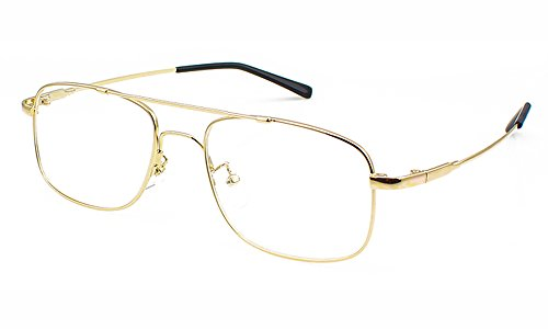 Agstum Aviator Full-flex Optical Memory Titanium Eyeglass Frame (Gold)