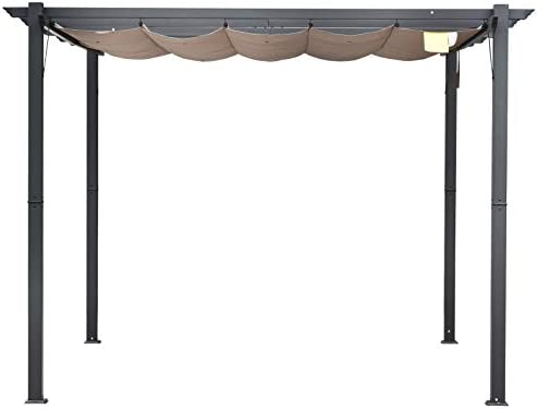 Outsunny Pérgola de Aluminio Gazebo Cenador 3x3m para Jardín Patio ...