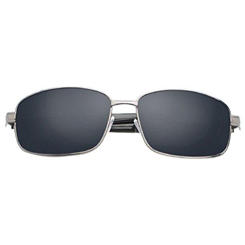 Vintage Negro Mujer Metal Eyeglasses LINNUO Lentes Polarizadas Protección Gafas de Sol Aviador Hombre UV400 Sunglasses xZHx6U0qwf