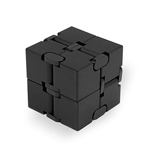 SULCMAG Metal Infinity Cube, Durable Aluminum Alloy Decompression Toys, Pressure Reduction Educational Toys Stress Relief Toy Games Square Cube for Adult and Children