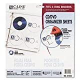 ** Deluxe CD Ring Binder Storage Pages, Standard, Stores 8 CDs, 5/PK