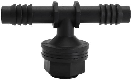 Hydro Flow Tub Outlet Tee Fitting w/ 2 Gaskets - 1/2