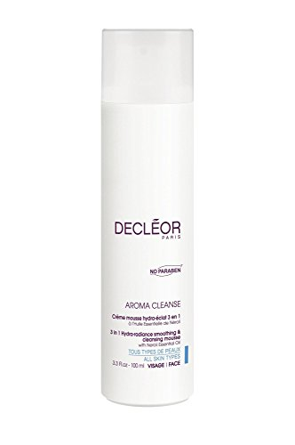 Decleor Aroma Cleanse 3 in 1 Hydra Radiance Smoothing and Cleansing Mouse, 3.3 Fluid (Facial Cleansing Mousse)