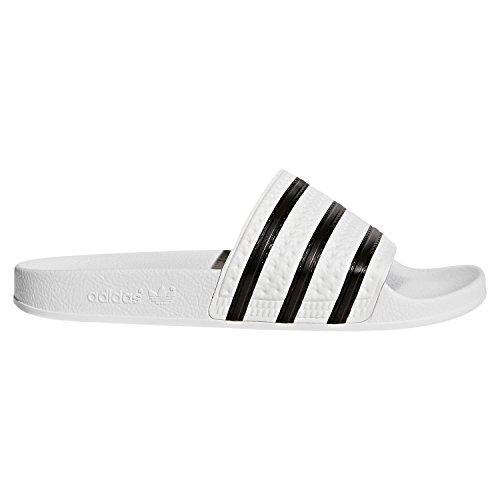 Adulte Mixte Adilette Blanc Noir Originals Adidas 280647 Sandales 7q6FXxw