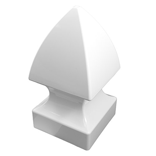 Durable White PVC Vinyl Gothic Post Cap For A True 3.5 Inch X 3.5 Inch Post | Single Pack | AWCP-GOTHIC-3.5