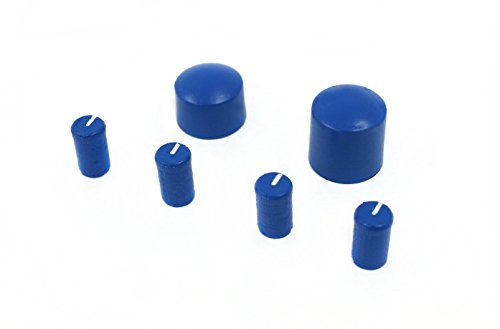 1 Factory Radio New Custom Blue w White Accents Radio Knob Kit Compatible with 1995-02 Chevy GMC Car & Truck