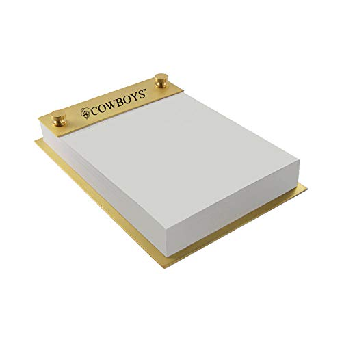 Oklahoma State University-Contemporary Metals Notepad Holder-Gold
