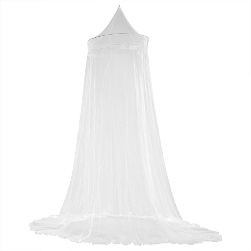 tting Bed Canopy Curtains Elegant Lace Princess Kids Canopy Curtain for Girls Room Bedding(White) ()
