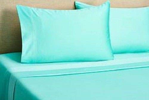 (Tuweep Bed Sheet Set Aqua Solid BUNK Bed 1000 TC Egyptian Cotton | Collection PREMSET-15687)