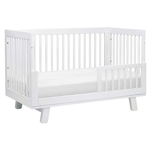 31b94BIaZtL - Babyletto Hudson 3-in-1 Convertible Crib With Toddler Bed Conversion Kit In White, Greenguard Gold Certified