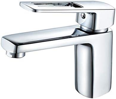 Waschbecken Wasserhahn Silber Badezimmer-Bassin-Hahn-Chrom-fertiger Einhand-Wanne-Wannen-Hahn-Hahn-Mischer warmes und kaltes Wasser Bassin-Hahn-Geschenke,Silber
