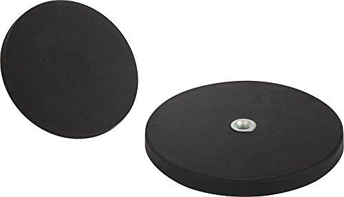 Disco magnetico gommato con filettatura interna M4 Neodym Dimensioni: 22 x 6 mm /Ø x h forza di aderenza: 3,8 kg
