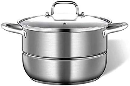 Nologo Argent Mini Marmite à Soupe en Acier Inoxydable Pot Hot Pot Cuisine Marmites Ustensiles de Cuisson Outils Pot Cuisine BBGSFDC