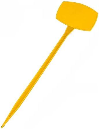 フラワーラベル 10個の防水プラスチック保育園のラベルT型植物 園芸用ラベル たんざくラベル (色 : 黄, サイズ : 50*15*9.5cm)