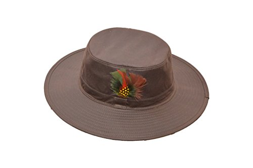 Aussie Outback Hats (Walker and Hawkes Men's Wax Outback Aussie Wide Brim Hat X-Small Brown)